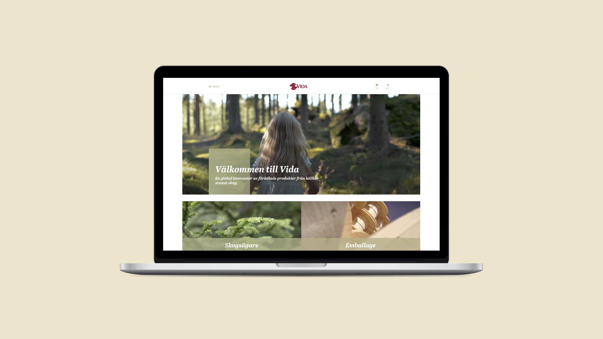Webbplats för Vida-koncernen