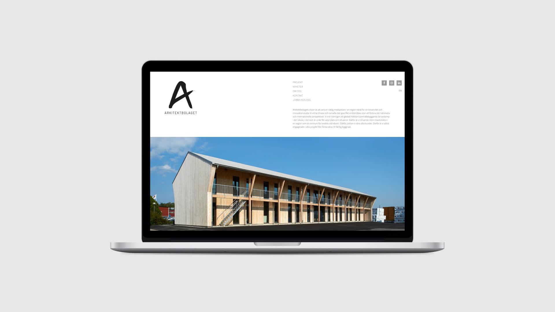Webbplats för Arkitektbolaget