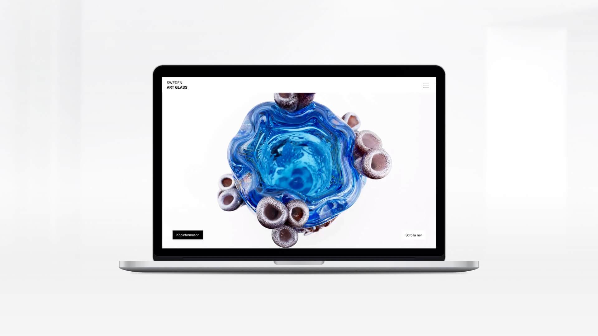 Webbplats för Sweden Art Glass